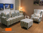 Set sofa motif garis minimalis