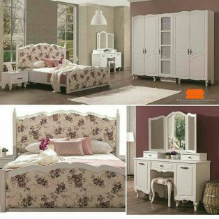 kamar set shabby chic rose white