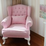 Sofa Shabby Chic Single Minimalis Pink