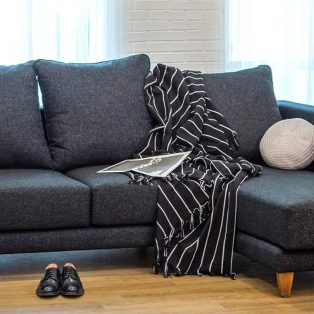 Kursi Sofa Leather L Sofa Sudut Minimalis Retro Modern