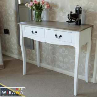 Meja Console Foyer Shabby Chic 2 Laci Narrow