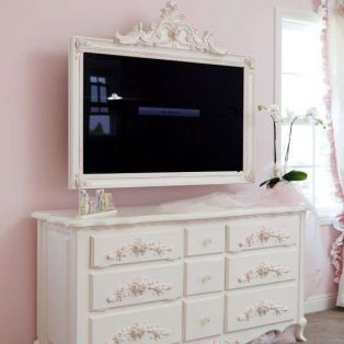 Nakas Buffet TV 9 Laci Shabby Kelly with Frame
