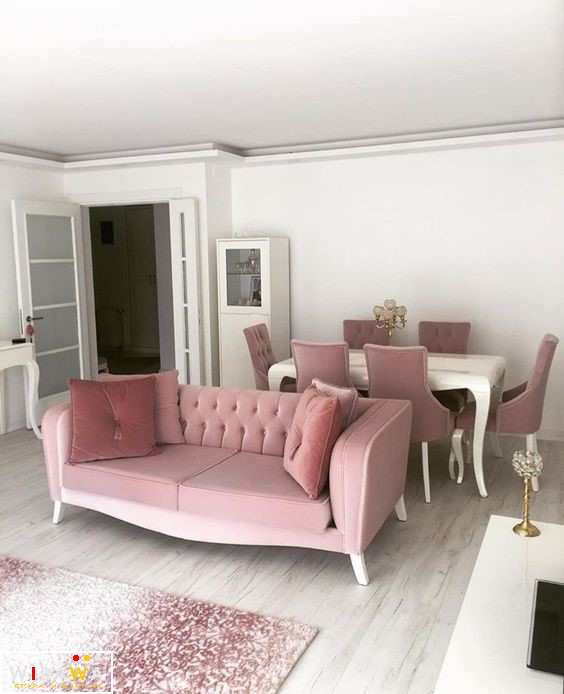 Sofa Shabby Chic Interior Ruang Tamu Minimalis Furniture