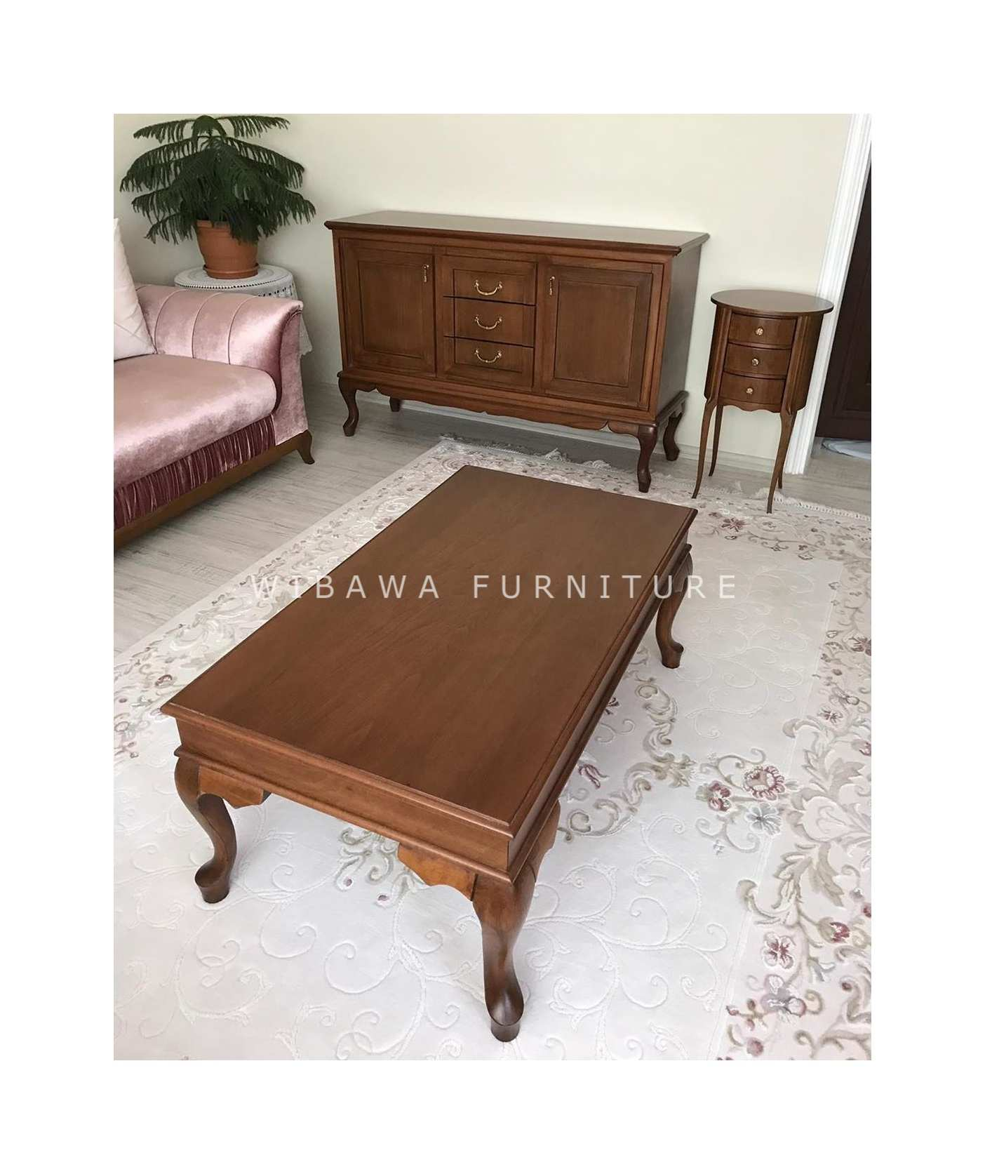 Harga Meja Tamu Coffe Table Minimalis Kayu Jati Furniture