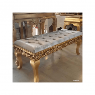 Bangku Sofa Bench Ukir Gold Wjf Series