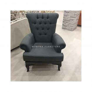 Sofa Single 1 Dudukan Warna Dark Grey