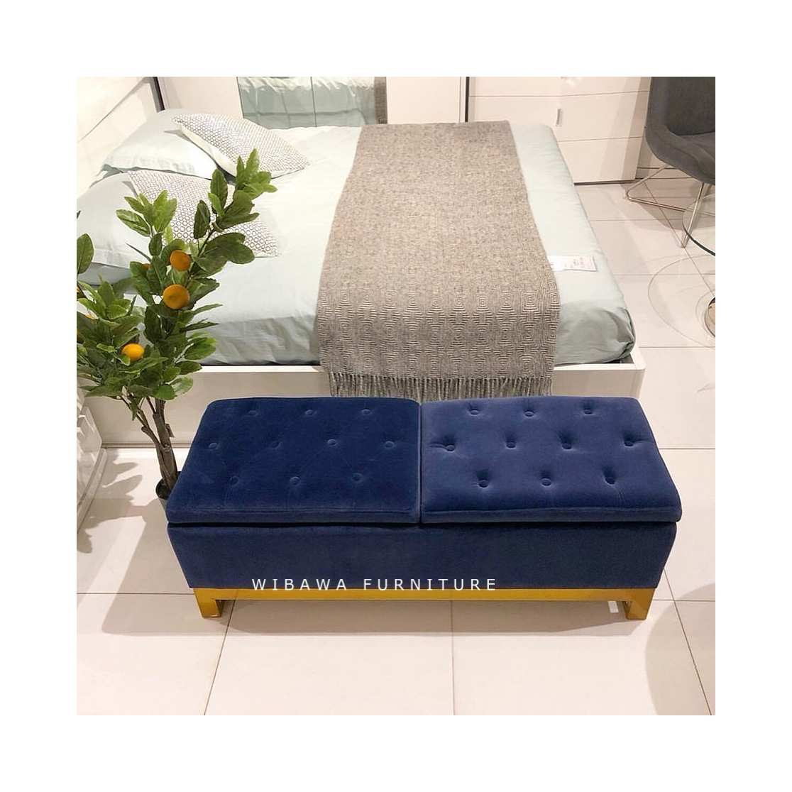 detail Model Terbaru Sofa Penyimpanan Bench Ottoman