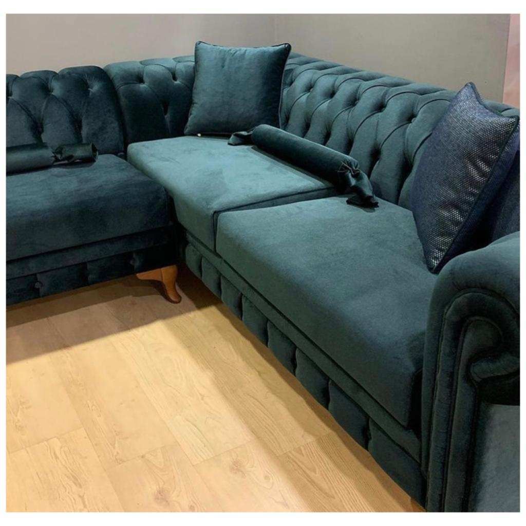 Kursi Sofa Tamu Sudut Model Chesterfield